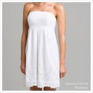 Lilly Pulitzer White Eyelet Strapless Betsey Dress